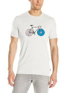 Levi's Men's Drop Hem Tee Commuter Donut Wheels-Stretch XL