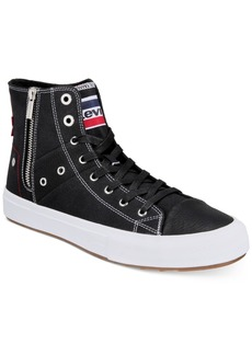 Levi's Men's External-Zip Olympic Mid-Height Sneakers Men's Shoes