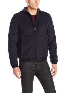 Levi's Men's Fashion Modern Varsity Bomber Jacket with Attached Hood  S