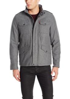 Levi's Men's Fashion Washable Wool Blend Four Pocket Military Jacket  XL