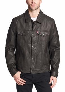 Levi's Men's Legacy Faux Leather Classic Trucker Jacket