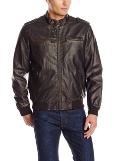 Levi's Men's Faux Leather Fashion Bomber Jacket