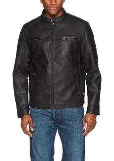 Levi's Men's Faux Leather Motorcross Racer Jacket