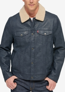 Levi's Men's Faux Leather Trucker Jacket