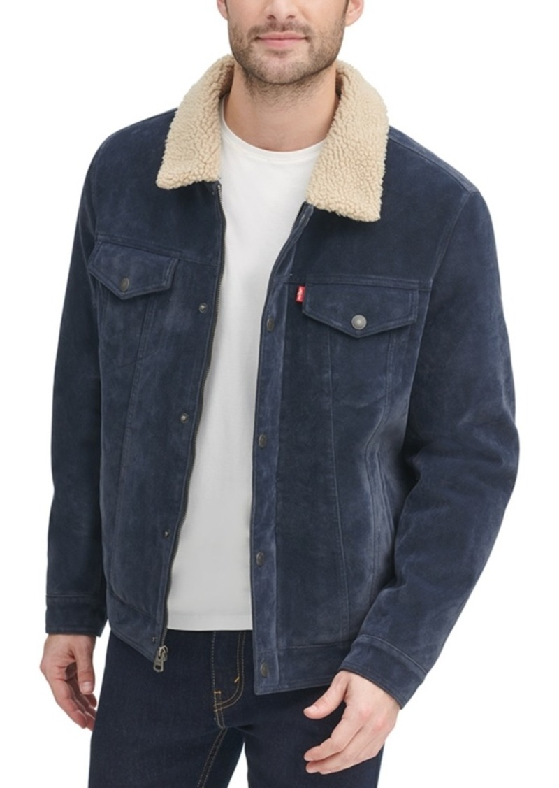Levi's Men's Faux-Suede Trucker Jacket with Fleece Lining