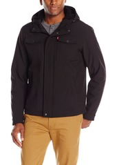 Levi's Men's Filled Soft Shell Two Pocket Sherpa Lined Hooded Trucker Jacket  XXL
