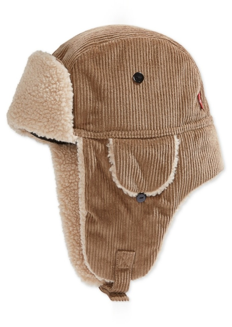 Levi's Men's Fleece-Lined Corduroy Trapper Hat