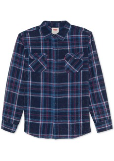 Levi's Men's Fluvio Textured Yarn-Dyed Plaid Twill Shirt