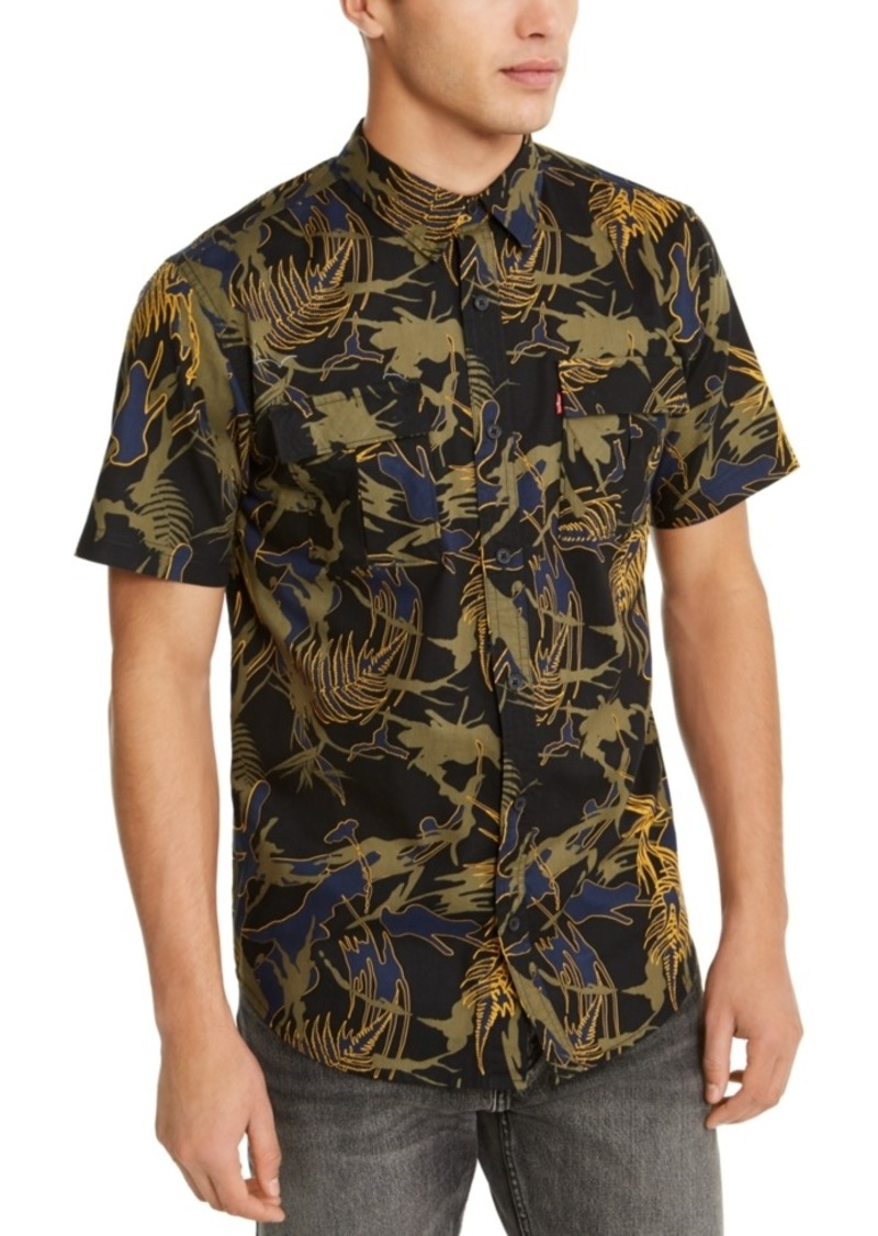 Levi's Men's Furlon Palm Print Short Sleeve Shirt