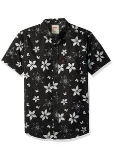 Levi's Men's Gatland Short Sleeve Woven Shirt caviar X Large