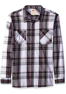 Levi's Men's Gibson Long Sleeve Poplin Plaid Shirt