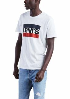 Levi's Men's Graphic Tees Sportswear Logo - White