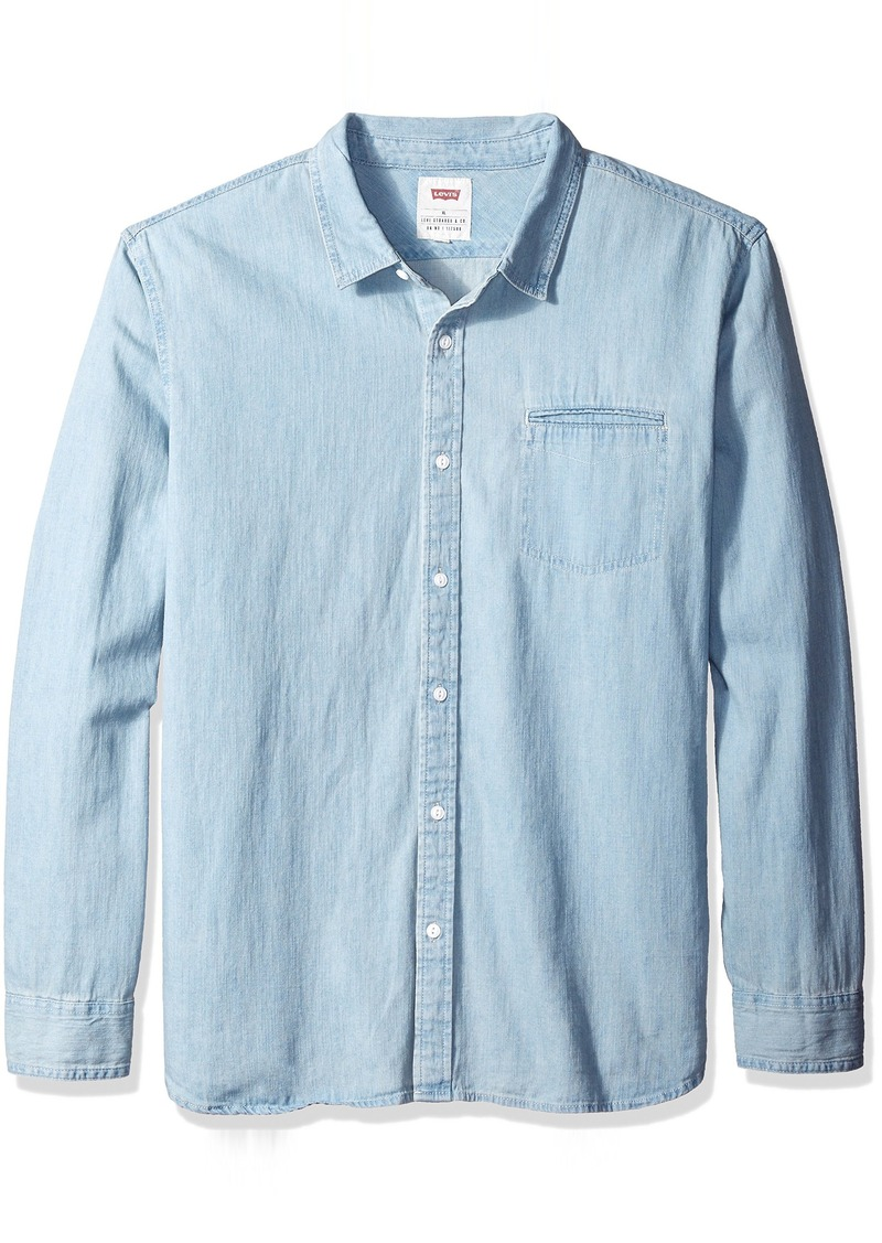Levi's Men's Greg Long Sleeve One Pocket Denim Shirt