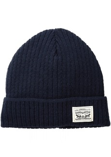 Levi's Men's Knit Cuff Beanie with Woven Label