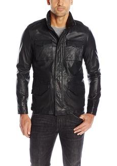 Levi's Men's Lamb Leather Four Pocket Military Jacket  XL
