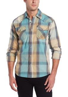Levi's Men's Layton Plaid Shirt Turquoise