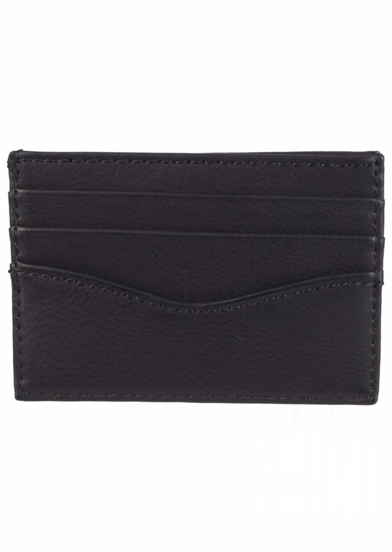 Levi's Men's Leather Minimalist Wallet - Front Pocket Card Case RFID Slim Thin Tactical ID Holder Sleeve for Men Travel