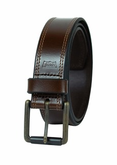 Levi's Men's 100% Leather Belt with Prong Buckle Dark Brown  Bridle Dark Brown