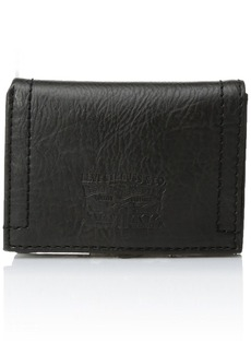 Levi's Men's Levi's Men's Stitch Detail With Horse Logo Trifold Wallet black No Size