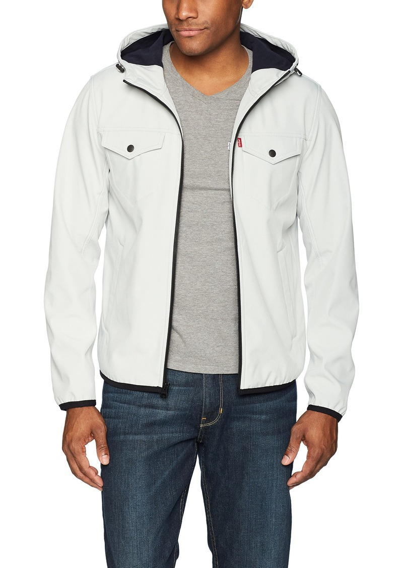 Levi's Men's Lightweight Hooded Softshell Trucker Jacket ice