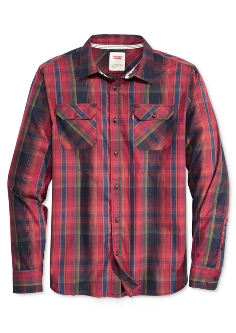 Levi's Men's Long-Sleeve Marled Plaid Work Shirt