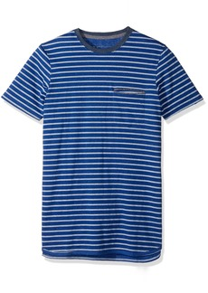 Levi's Men's Luke Speckled Snow Jersey Stripe Short Sleeve Shirt