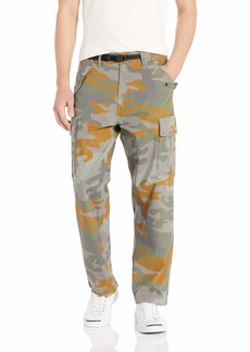Levi's Men's Military Banded Carrier Cargo Pant Grey Woodland camo/Stretch Cotton Ripstop