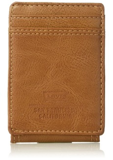 Levi's Men's Minimalist Front Pocket - Wallet with Magnetic Money Clip for Men Slim Thin RFID ID and Credit Card Holder  One Size