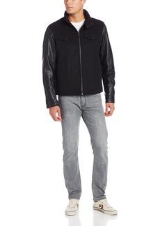 Levi's Men's Mixed Media Stand Collar Jacket