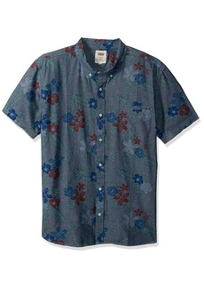 Levi's Men's Ozo Tropical Short Sleeve Woven Shirt indigo XX Large