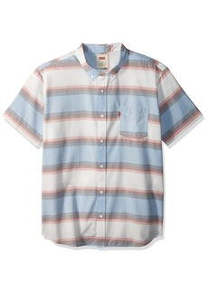 Levi's Men's Palette Short Sleeve Woven Shirt marshmallow