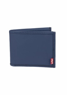 Levi's Men's Petite RFID Security Blocking Extracapacity Leather Slimfold Wallet