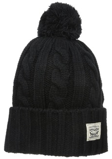 Levi's Men's Pompom Cable Beanie Hat