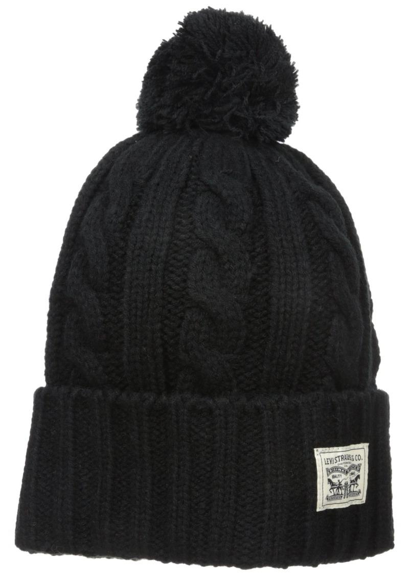 Levi's Men's Pompom Cable Beanie Hat