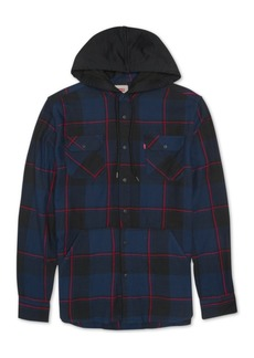 Levi's Men's Prince Hooded Plaid Shirt