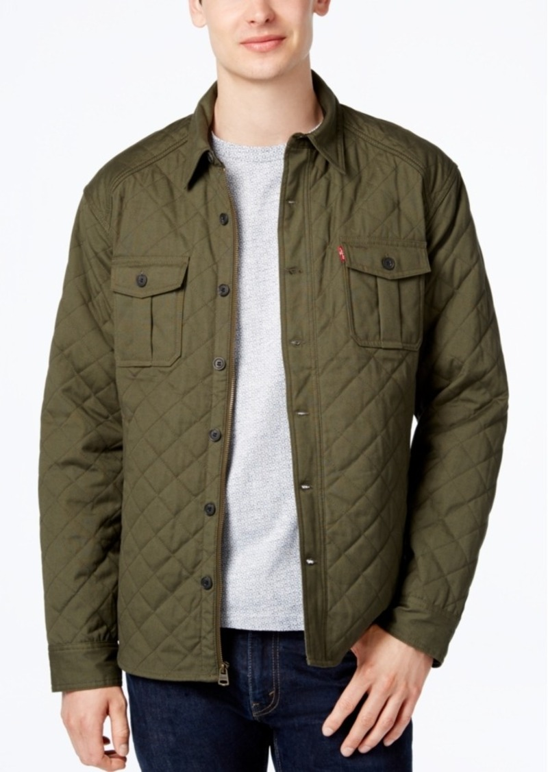 special sales sports shoes select for official Men's Quilted Shirt Jacket