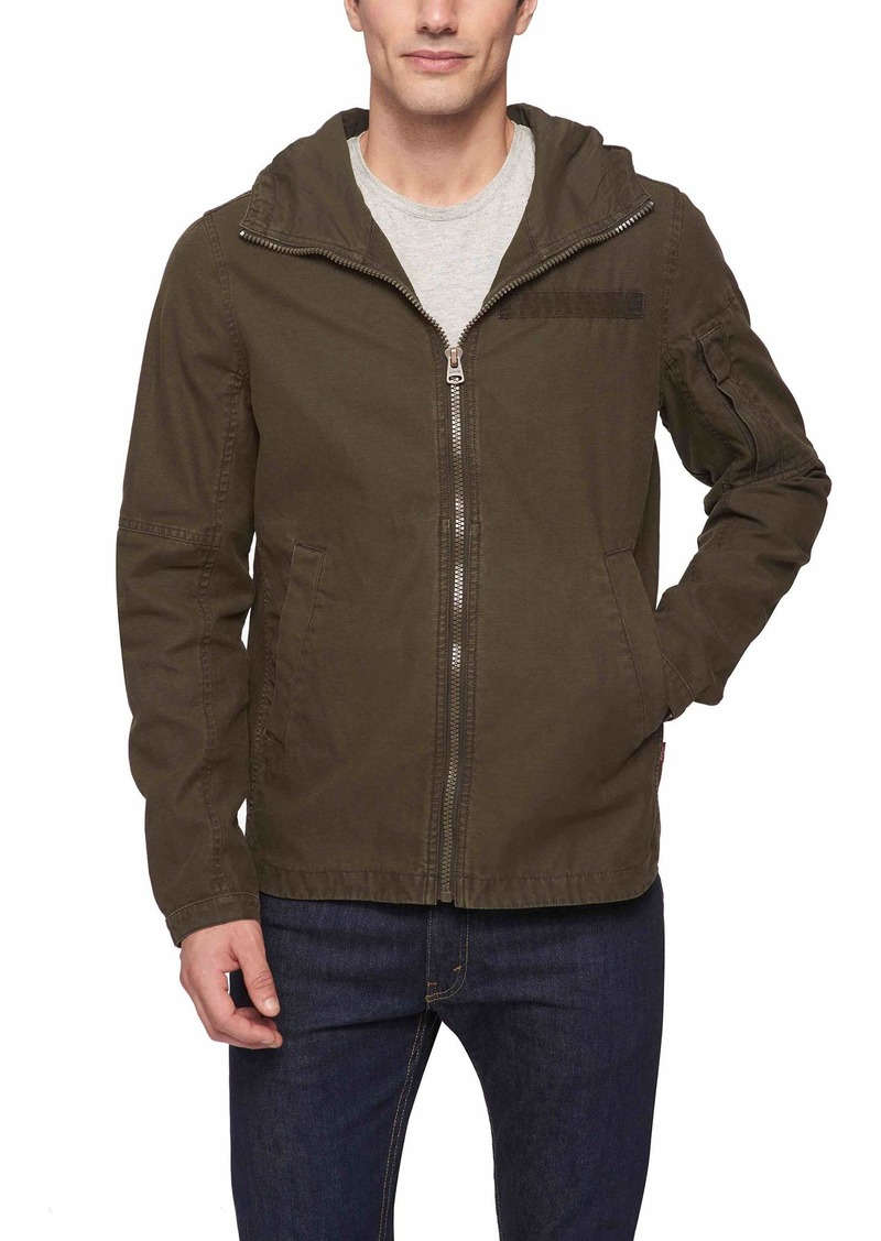 Levi's Men's Reverse Twill Cotton Swing Hooded Jacket