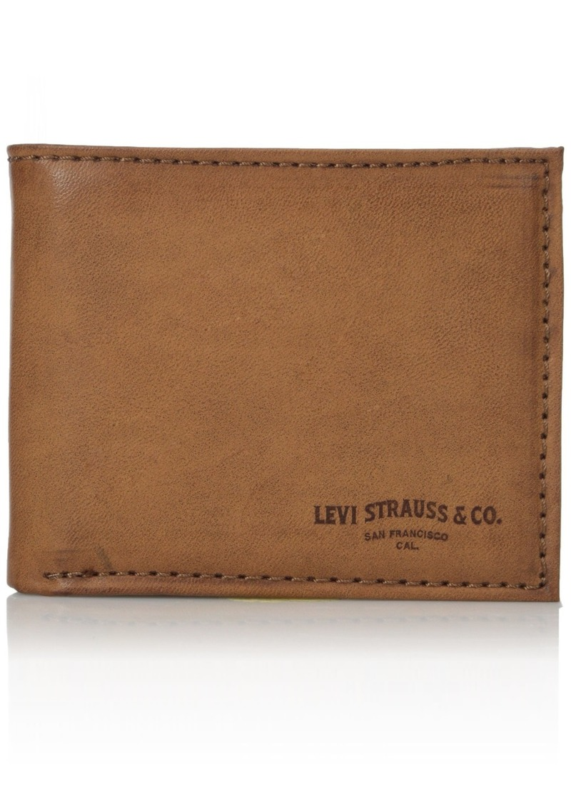 Levi's Men's Rfid Blocking Extra Capacity Leather Slimfold Wallet