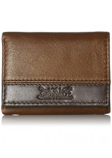 Levi's Men's RFID Trifold Wallet - Sleek and Slim Includes ID Window and Credit Card Holder Dark Brown Two