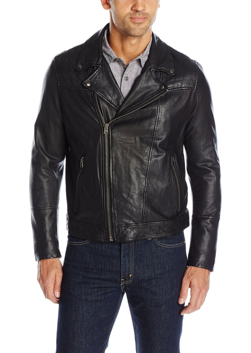 Levi's Men's Rugged Leather Motorcycle Jacket  XL