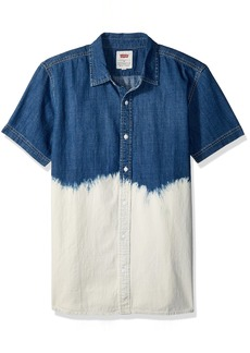 Levi's Men's Shasta Short Sleeve Denim Shirt indigo