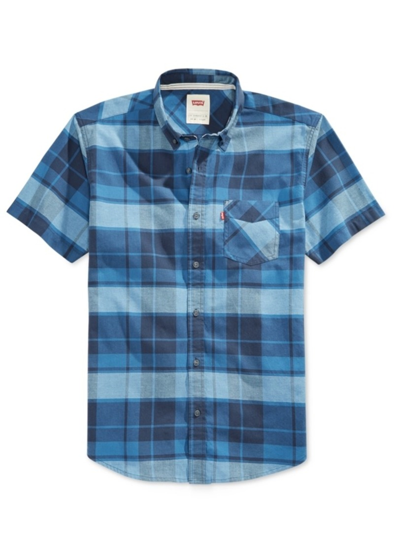 Levi's Men's Short-Sleeve Plaid-Print Shirt