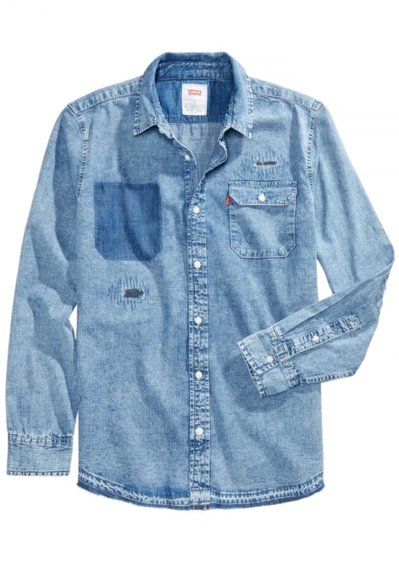 dac85d093eb Levi s Levi s Men s Slim-Fit Distressed Denim Shirt