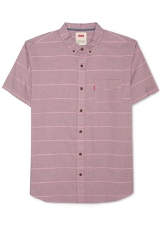 Levi's Men's Slim-Fit Striped Short-Sleeve Oxford Shirt