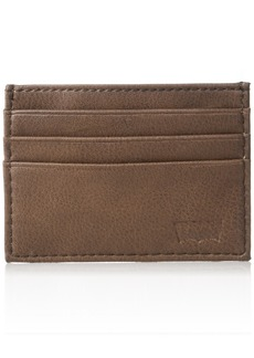 Levi's  Men's  Slim Front Pocket Wallet Money Clip Bottle Opener