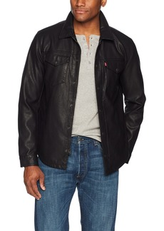 Levi's Men's Smooth Lamb Touch Faux Leather Shirt Jacket