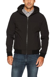 Levi's Men's Soft Shell Active Hooded Bomber Jacket