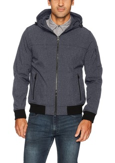Levi's Men's Soft Shell Active Hooded Bomber Jacket