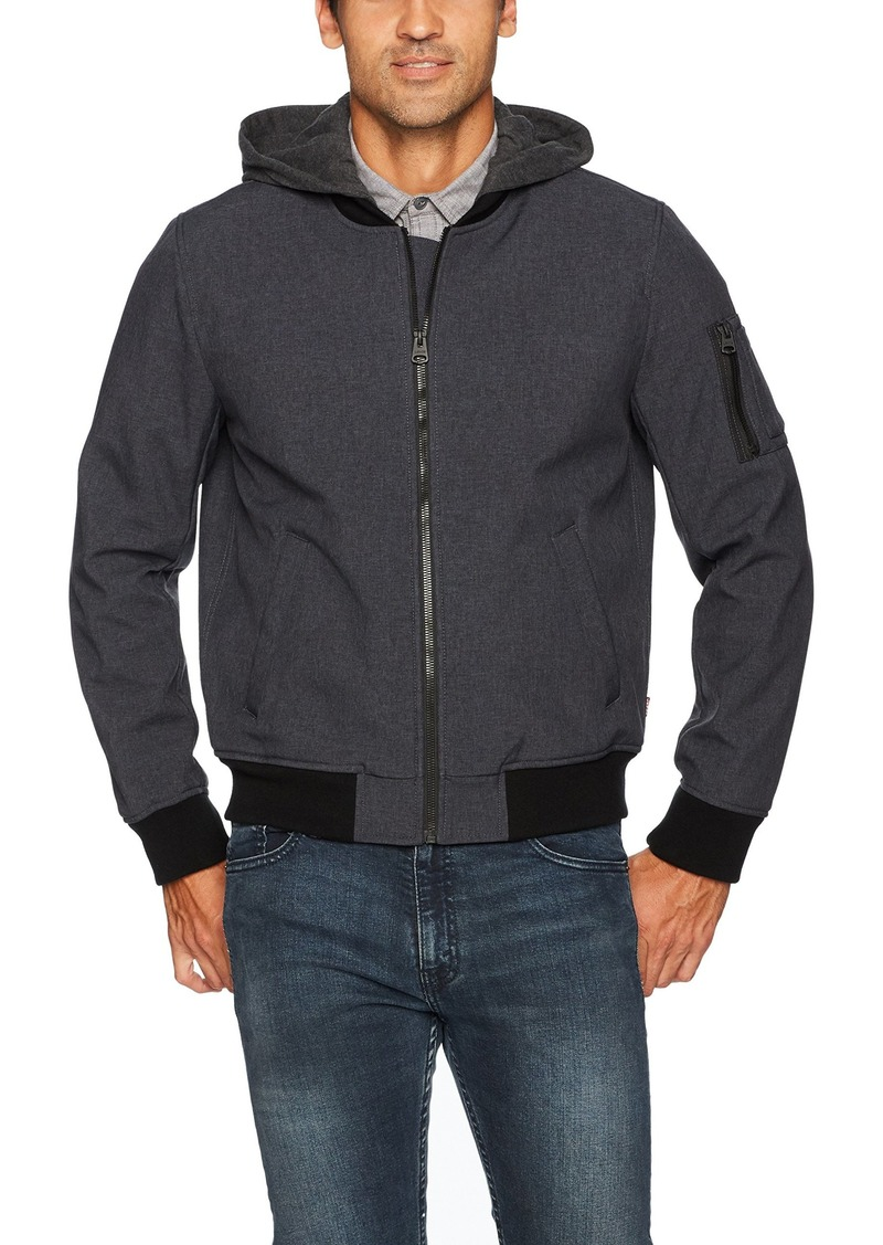 Levi's Men's Soft Shell Hooded Flight Bomber Jacket