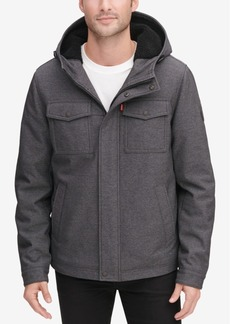 Levi's Men's Soft Shell Hooded Trucker Jacket with Sherpa Fleece Lining